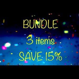 Bundle 3 Items & Save 15%